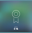 rosette icon vector image