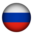 Russian flag button vector image vector image