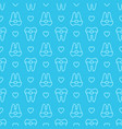 seamless geometric pattern tooth vector image vector image