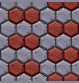 seamless pattern vintage stone hexagonal tiles vector image