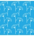 Seamless pattern with chrysanthemums vector image