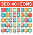 seo 40 icons design set search engine vector image