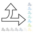 split direction right forward icon vector image