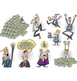Success in business cartoon set vector image