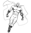 superhero flying 6 line art vector image vector image