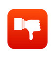 thumb down gesture icon digital red vector image vector image