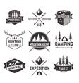 Tourism emblems labels set vector image