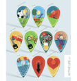 Travel Map Pins vector image