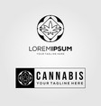 tribal cannabis line art logo icon vector image vector image