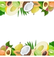 Two borders made of delicious ripe fruit vector image vector image