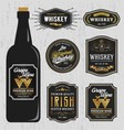 Vintage Premium Whiskey Brands Label Design vector image