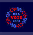 vote 2020 in united states mail plus regular vector image vector image
