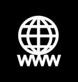 www sign icon world wide web symbol icon design vector image