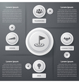 Success business infographics vector image