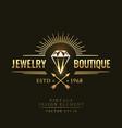 gold vintage retro badge wit diamond vector image