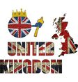 Brick ball with Great Britain flag vector image