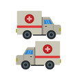 ambulance icon in on white background vector image vector image
