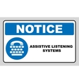Assistive listening systems sign Medical vector image vector image