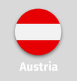 austria flag round icon vector image