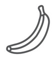 banana line icon fruit and vitamin tropical vector image