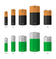 battery icons set on white background vector image vector image