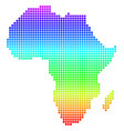 bright dotted africa map vector image vector image