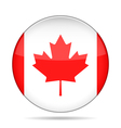 button with Canada flag vector image