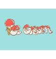 Cartoon ice cream text vector image vector image