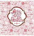 Christmas crdDoodle pattern backgroundlabel vector image vector image
