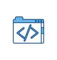 coding program file internet line and fill vector image