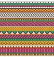 Colorful tribal print seamless background vector image vector image