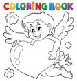 coloring book cupid topic 4 vector image