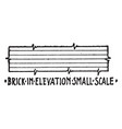 conventional symbol of brick in elevation small vector image vector image