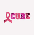 cure concept stamped word art vector image vector image