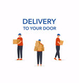 delivery mens flat design modern concept vector image
