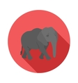 Elephant icon in flat style vector image vector image