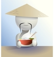 faceless Chinese vector image vector image