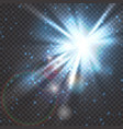 flash burst of star light with blur and lens flare vector image vector image