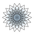 flower mandala for coloring book vector image vector image