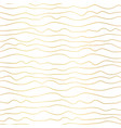 gold foil wavy stripes seamless pattern vector image vector image