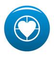 gunpoint heart icon blue vector image