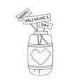 hand drawn a mason jar vector image vector image