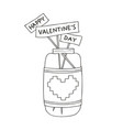 hand drawn of a mason jar with vector image vector image