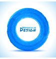 Hand drawn watercolor blue circle design element vector image vector image