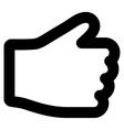 Hand Stroke Icon vector image
