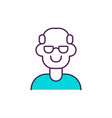 healthy ageing rgb color icon vector image