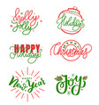 holly jolly quote merry christmas happy new year vector image