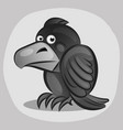 icon ominous black raven evil crow bird in a flat vector image vector image