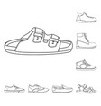 isolated object of shoe and footwear logo set of vector image