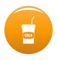 juice icon orange vector image
